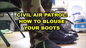 blouse your boots civil air patrol how to blouse your boots