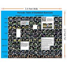 Kurzhantel übungsposter groß Periodensystem der Hantel übungen