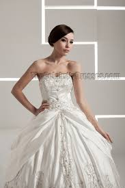 floor length embroidered strapless sweetheart ball gown wedding