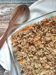 sweet potato casserole with pecans honey and pine co