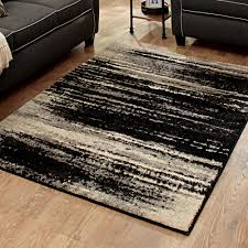 Black And White Area Rugs For Sale Better Homes And Gardens Shaded Lines Area Rug Or Runner Walmart