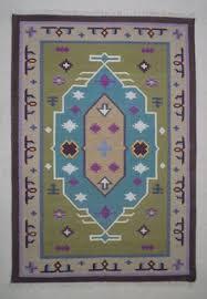 green dhurrie rug 4x6 bohemian rug cotton rug traditional rug