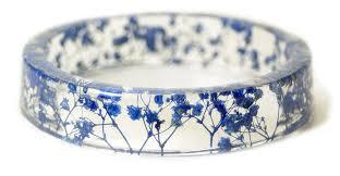 handmade flower bracelet images Handmade resin bangles embedded with flowers and bark colossal jpg