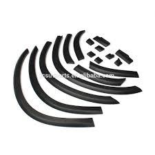 mitsubishi logo black 16pcs set abs asx black fender flare wheel arch trims for