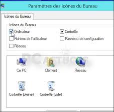 afficher les icones du bureau retrouver l icône ordinateur sur le bureau windows 8