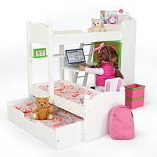 18 Inch Doll Bunk Bed Eimmie 18 Inch Doll Bunk Beds W Trundle And Accessories Caign