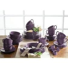 16 piece solid square dinnerware set purple pinterest