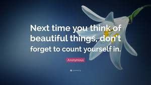 anonymous quote u201cnext time you think of beautiful things don u0027t