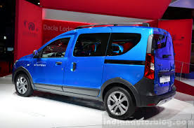 renault dokker 2017 dacia dokker stepway rear three quarters at the 2014 paris motor