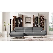 Modern Gray Sofa by Divani Casa Trinidad Modern Grey Fabric Sectional Sofa Vig