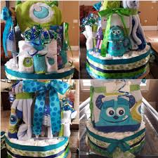 inc baby shower ideas monsters inc cake baby diapers monsters