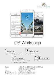 ios workshop use swift to create your own app cityu apps lab