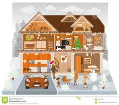 Diorama House Family House In Winter Diorama Stock Photo Image 38185810