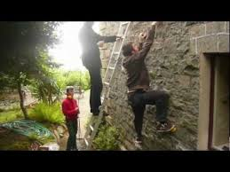 how to build a climbing wall on your house youtube