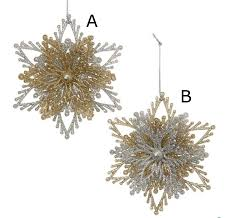 gold and silver snowflake burst ornaments from kurt adler the