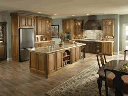 hardwood floors with dark kitchen cabinets white stained iron