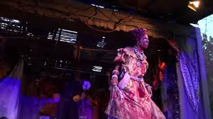human sacrifice show in bayou of blood scare zone at halloween
