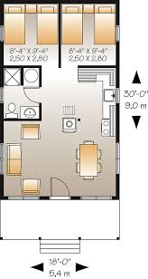 small vacation home floor plans king fisher 1493 2 bedrooms and 1 5 baths the house designers