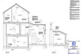 Living Room Architecture Drawing Cornwall Architect Domesitic And Commercial Architecture Id