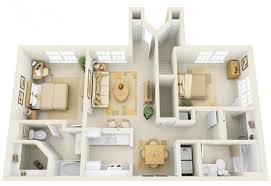 apartment design floor plan 20 interesting two bedroom apartment plans home design lover