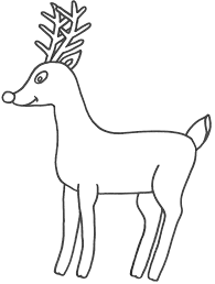deer coloring pictures deep forest coloring picture