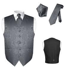 s dress vest necktie for suit tuxedo paisley design mens vests