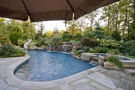 pool besf of ideas and patio design with semi inground pools
