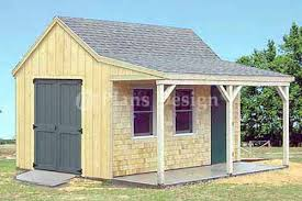 cabin plans with porch 12 x 16 cottage cabin shed with porch plans 81216 ebay