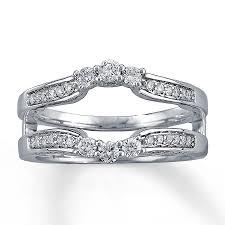 kay jewelers engagement rings kay diamond enhancer ring 1 2 ct tw round cut 14k white gold