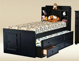 Captain Bed With Desk Jackson Twin Black Bookcase Bed Black Captains Bed For Kids