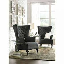 Black Accent Chairs For Living Room Living Room Upholstered Accent Chair Velvet Slate Upholstered