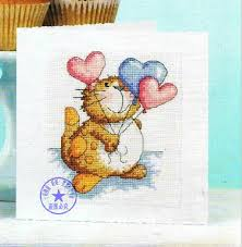free shipping popular diy cross stitch greeting cards birthday