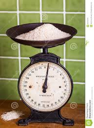 weighing rice with mechanical scales stock images image 29379724
