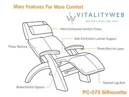 Orthopedic Recliner Chairs Silhouette Perfect Chair Pc 075 From Human Touch The Perfect Zero