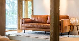 tan brown leather sofa italian leather article sven modern