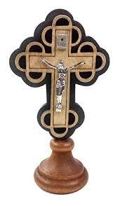 wood crucifix wood crucifix jesus catholic standing car auto figurine