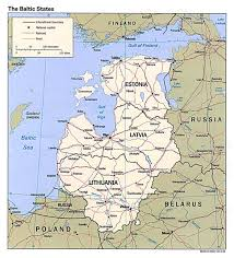 Scandinavia On Map Large Political Map Of The Baltic States With Roads And Major