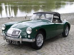 porsche british racing green classic chrome mg a 1500 1958 historic plate british racing green
