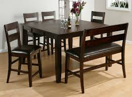 counter height dining table with bench brilliant ideas of dazzling espresso small dining room sets with