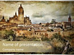 artistic medieval summer powerpoint template id 0000013725