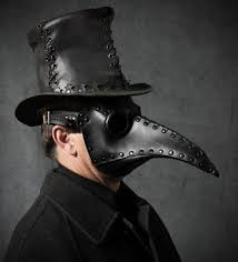 plague doctor masquerade mask doctor mask in black leather schnabel