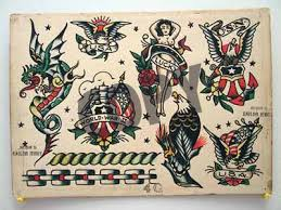 vintage tattoo flash sailor jerry tattoo flash copies for sale