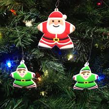 Santa Claus Christmas Tree Ornaments by Meeplesource Com Santa And 2 Elves Meeple Christmas Tree