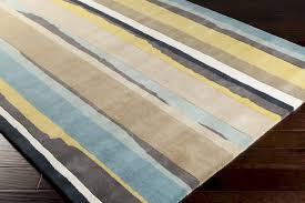 Yellow Area Rug 4x6 Surya Sanderson Snd 4502 Blue Haze Feather Grey Green Yellow Area