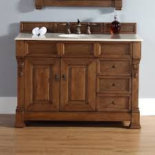 Oak Bathroom Cabinet Darby Home Co Bedrock 48 Single Country Oak Bathroom Vanity Set
