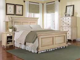 durham furniture savile row 4 piece panel bedroom set in antique cream