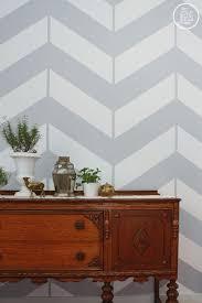 diy chevron print wall paint cheapunder youtube home decor easy