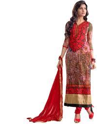 red cotton dress material for salwar kameez dress the fashion