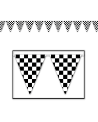 Safety Pennant Flags 120 U0027 Checkered Pennant Walmart Com