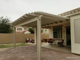 pictures of patio covers two tone alumawood lattice cover